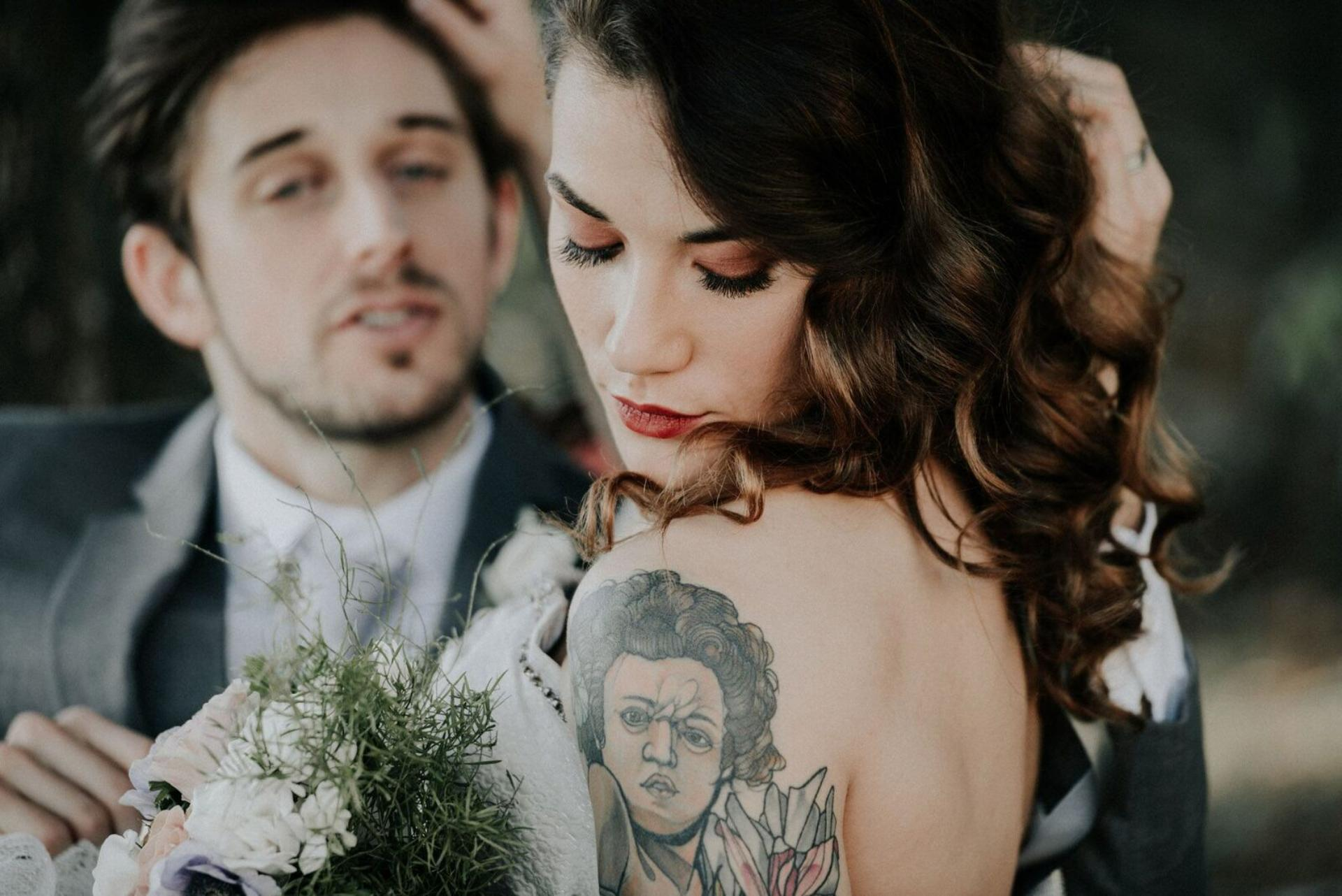 Wedding makeup bride and groom